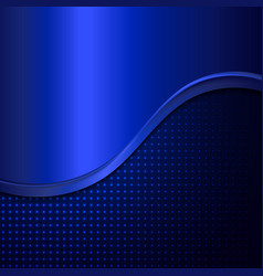 Abstract blue metal background vector