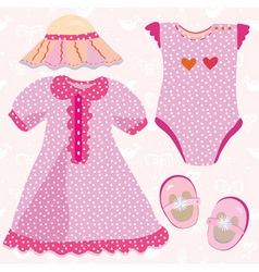 baby costume vector image vector image
