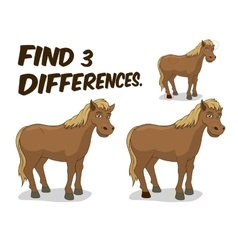 Find differences game horse vector image vector image