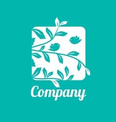 Little Birds Logo Tempalte vector image