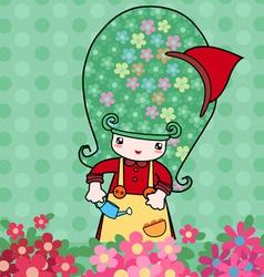 Little florist vector image