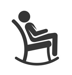 man in rocking chair icon vector image