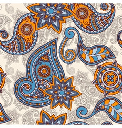 seamless hand drawn paisley pattern clipping masks vector image vector image