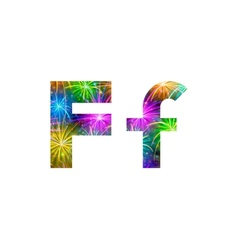 Set of letters firework F vector image vector image