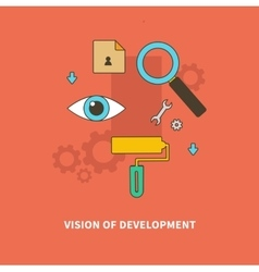 Stage Business Process is Vision of Development vector image vector image