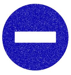 forbidden icon grunge watermark vector image