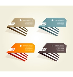 Four colored paper notes vector image