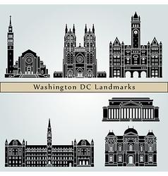 Washington V2 landmarks and monuments vector image vector image