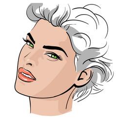 a woman s face vector image