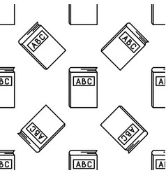abc book line icon seamless pattern vector image