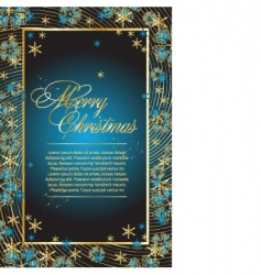 abstract Christmas frame vector image
