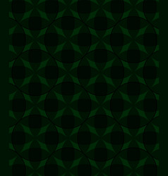 abstract circles pattern green background vector image