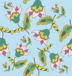 Beautiful hand drawn floral seamless pattern vector