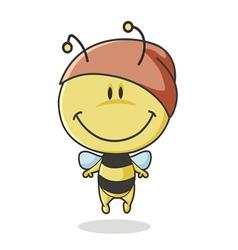 bee mascot vector image