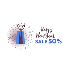 big winter sale banner design vector image