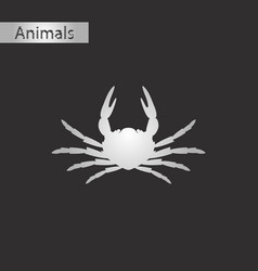 black and white style icon of crab vector image