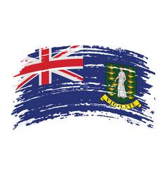 British virgin islands flag in grunge brush stroke vector