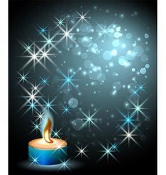 burning candle vector image
