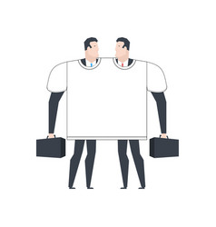 business partners t-shirt for two make a deal vector image