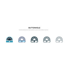 Buttonhole icon in different style two colored vector