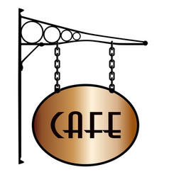 Cafe sign vector