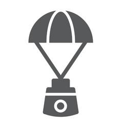Capsule parachute glyph icon space exploration vector
