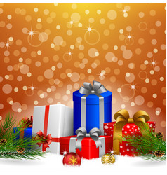 christmas background with gift box christimas vector image
