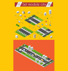 Cityscape design elements vector