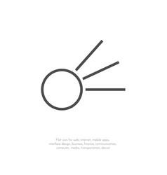 comet icon 11 vector image