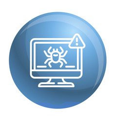 computer virus detection icon outline style vector image
