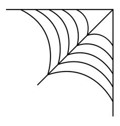 Corner cobweb icon outline style vector