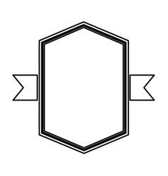 Elegant frame with ribbon vector