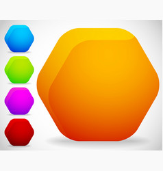 empty octagonal shapes button badge backgrounds vector image