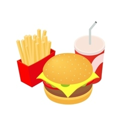 Fast food lunch vector image