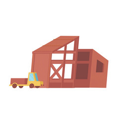 flat construction site vector image