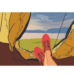 flat web banner on the theme of Climbing vector image
