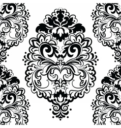 Floral lace pattern in Oriental style vector