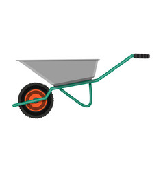 Garden metal wheelbarrow vector