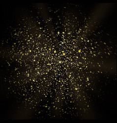 glitter background with gold sparkle shine light vector image