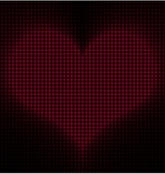 Glowing Heart Background vector