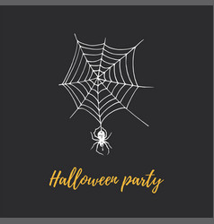 halloween party hand lettering vector image
