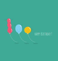 happy birthday card with number 10 candle vector image