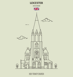 Holy trinity church in leicester vector