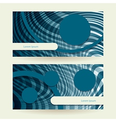 Horizontal abstract blue elipse vector