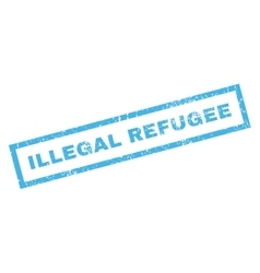 Illegal Refugee Rubber Stamp vector