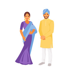 Indian national costumes vector