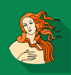 Italian goddess of love icon in flat style vector