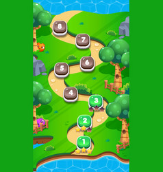 Level world map for mobile games - assets vector