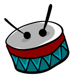 Light blue drum on white background vector