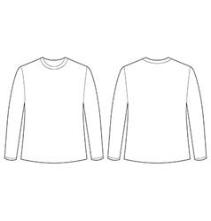 Longsleeves shirt vector image